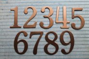 Copper table numbers, by studioCee on etsy.com