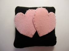 Felt ring pillow, by ArtisanFeltStudio on etsy.com
