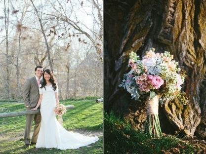 Grey and dusty rose wedding colours {via calierose.com}