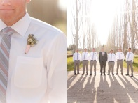 Groom and groomsmen in dusty rose and grey {via calierose.com}