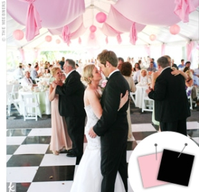 Light pink and black wedding {via theknot.com}