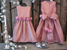 Silk flower girl dress, by englaCharlottaShop on etsy.com