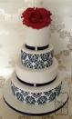 Wedding cake {via cakecentral.com}