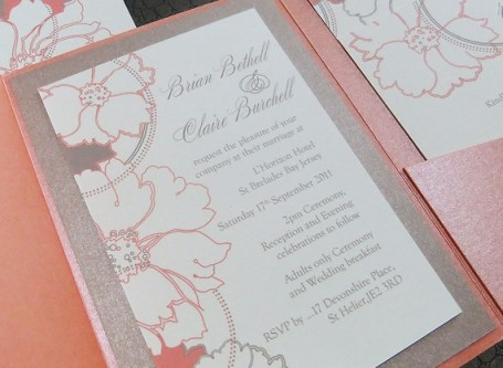 Wedding invitation, by emilyedsondesign on etsy.com