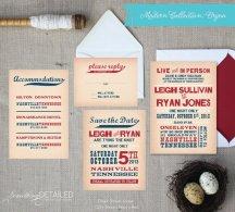 Wedding invitation, by SomethingDetailed on etsy.com