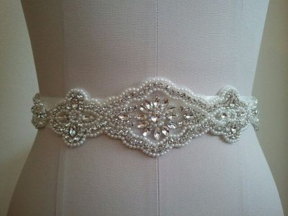 Bridal sash, by LucyBridalBoutique on etsy.com