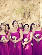 Bridesmaids in fuchsia {via societybride.com}
