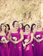 Bridesmaids in fuchsia {via societybride.com}