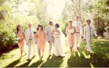 Bridesmaids in peach {via vi.sualize.us}