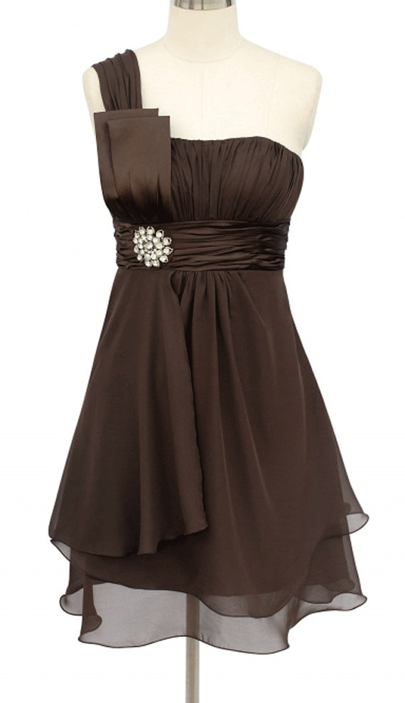 Chocolate brown wedding the merry bride for Brown dresses for wedding