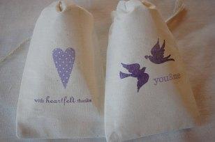 Cotton favour bags, by weddingsbyjennifer on etsy.com
