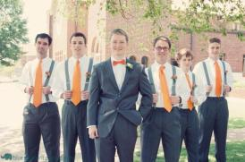 Groomsmen with orange ties {via annateague.wordpress.com}
