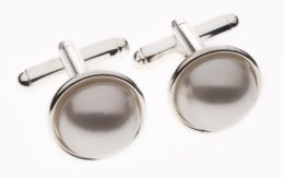 Men's pearl cufflinks, by Star4you on etsy.com