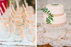 Peaches and cream ideas {via onefinedayevents.com}
