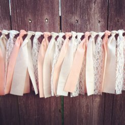 Rag tie garland, by jpurifoy on etsy.com