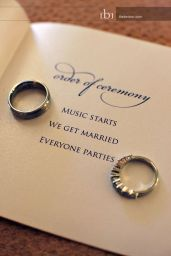 Simple but effective ceremony programme!