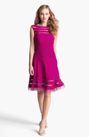 Tadashi Shoji Sleeveless Mesh Stripe Jersey Dress, from nordstrom.com