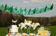 Tassel garlands look great outside {via onewed.com}