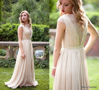 Wedding dress, by TingBridal on etsy.com