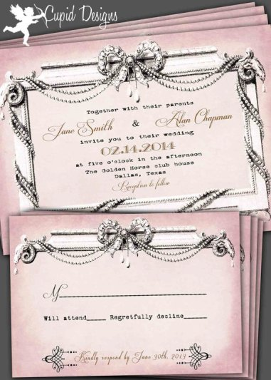 Wedding invitation, by CupidDesigns on etsy.com