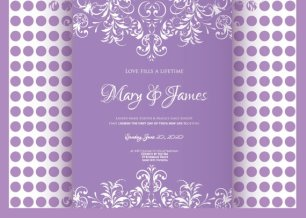 Wedding invitation, by MarcieMesserDesign on etsy.com