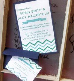 Wedding invitation, by OtticusFinchPress on etsy.com