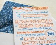 Wedding invitation, by SteelPetalPress on etsy.com