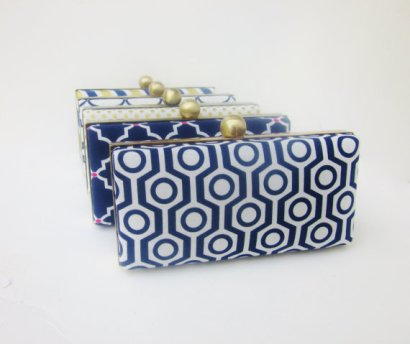 Bridesmaid clutch purses, by VincentVdesigns on etsy.com