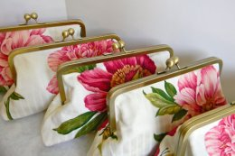 Bridesmaid clutches, by AnOrangeBlossomBag on etsy.com