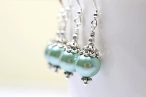 Bridesmaid earrings, by WaterwaifWeddings on etsy.com