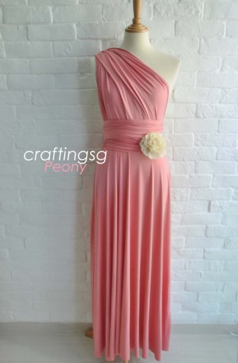 Bridesmaid infinity dress, by craftingsg on etsy.com