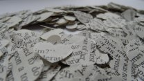 Confetti made from Jane Austen novels, by AlbertlovesDaisy on etsy.com