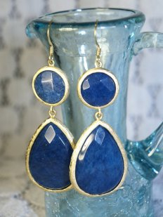 Earrings, by stitchandstonedesign on etsy.com