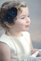 Flower girl headband, by BellaBeanCouture on etsy.com