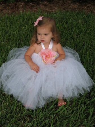 Flower girl tutu dress, by TuTuCuteBaby on etsy.com