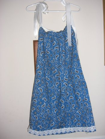 Girl's pillowcase dress, by RainyDay379 on etsy.com