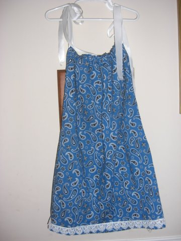 Girl's pillowcase dress, by RainyDay379 on etsy.com