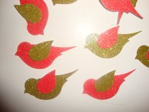 Glitter bird confetti, by jessicasue34 on etsy.com