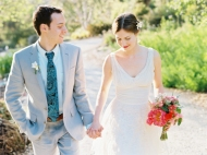 Groom with a blue paisley tie {via inspiredbythis.com}