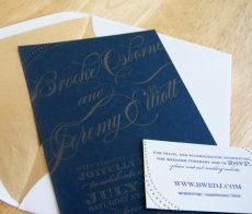 Letterpress wedding invitation, by SteelPetalPress on etsy.com