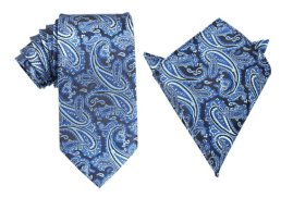 Men's matching tie and pocket square, by OTAA on etsy.com