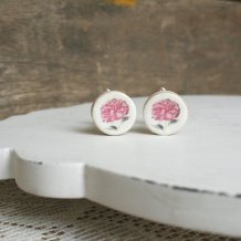 Men's peony cufflinks, by CherryPieLane on etsy.com