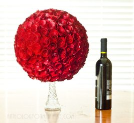 Paper pomander centrepiece in your choice of colour, by AnthologyOnMain on etsy.com