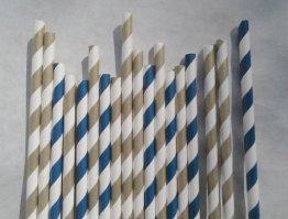 Paper straws, by bevebylaurenfish on etsy.com
