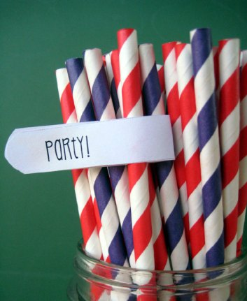 Paper straws, by MyLittleOtter on etsy.com