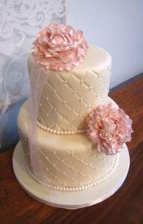 Peony wedding cake idea {via kategreencakes.com}