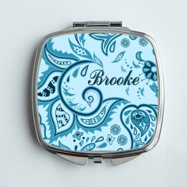 Personalised compact mirror (bridesmaid present), by DynamicImprintables on etsy.com