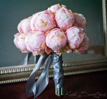 Pink peony bouquet, by KateSaidYes on etsy.com