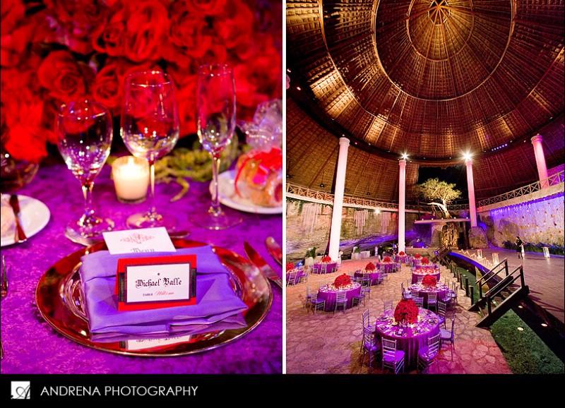 Red And Purple Wedding Via Kurvykoutureblogspot