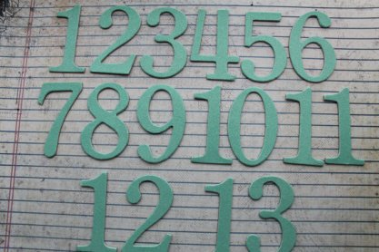 Table numbers, by studioCee on etsy.com